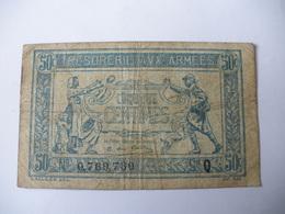 0.50 F TRESORERIE AUX ARMEES TYPE 1917 SERIE Q - Treasury
