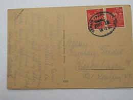 1922 , Seltene Mehrfachfrankatur Auf Karte Nach Dänemark - Deutschland