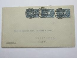1923 , Seltene Mehrfachfrankatur Auf Brief Nach Dänemark - Deutschland