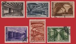 Russia / Sowjetunion 1947 - Mi-Nr. 1125-1130 Gest / Used - Moskauer U-Bahn - 1923-1991 URSS