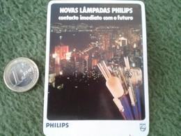 PORTUGAL CALENDARIO DE BOLSILLO CALENDAR 1986 PUBLICIDAD PHILIPS LAMPADAS BOMBILLA LIGHTBULB BOMBILLA LAMPE....ETC VER F - Tamaño Pequeño : 1981-90