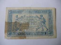 0.50 F TRESORERIE AUX ARMEES TYPE 1919 SERIE V - Trésor