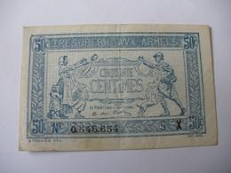0.50 F TRESORERIE AUX ARMEES TYPE 1919 SERIE X - Treasury