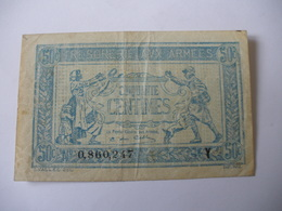 0.50 F TRESORERIE AUX ARMEES TYPE 1919 SERIE Y - Trésor