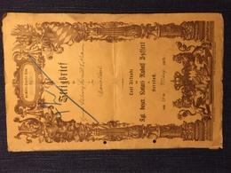 Bayerischer Steigbrief ( Pfalz 1893 ) - Diplome Und Schulzeugnisse