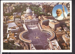 Postkarte Vatikan 1999 Petersdom , Papst ... - Vatikanstadt