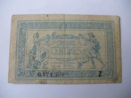 0.50 F TRESORERIE AUX ARMEES TYPE 1919 SERIE Z - Treasury