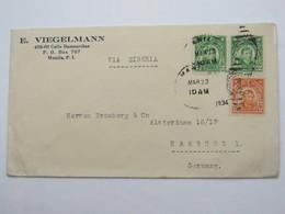 1934 , Brief Aus Manila Nach Deutschland - Philippinen