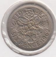 @Y@   Groot Brittanië   Six  Pence   1962  (4786) - 1902-1971: Postviktorianische Münzen