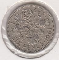 @Y@   Groot Brittanië   Six  Pence   1961  (4785) - 1902-1971: Postviktorianische Münzen