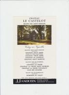 PUB - VIN - SAINT EMILION  GAND CRU - CHATEAU LE CASTELOT - DOMAINE DU GALET - J.JANOUEIX - LIBOURNE - Alcools