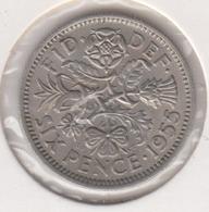 @Y@   Groot Brittanië   Six  Pence   1955  (4784) - 1902-1971: Postviktorianische Münzen