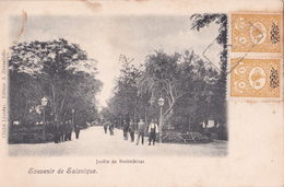 Souvenir De Salonique - Jardin De Bechtchinar - Timbres Surchargés - Greece