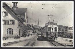 Gais - Bahnhof - Bahn - Lok - Belebt - Zug - 1934 - AR Appenzell Rhodes-Extérieures