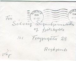 Iceland/Islande/Ijsland/Island Domestic Cover 1981 NO STAMP - Otros