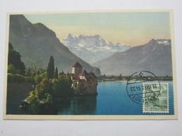 1948 , 3 Rappen Cgillon , Maximumkarte, Sehr Selten - Suisse