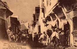 FEZ - 154 1-  JUDAICA. La Rue Principale Du Mellah. - Fez (Fès)