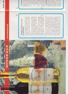 PUB - VIN DE BORDEAUX - VIGNOBLES DE BORDEAUX - SIRDET P - CHATEAU LES GARELLES - DEPLIANT COULEUR 1976 - Alcools