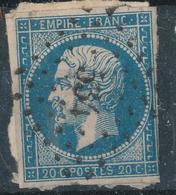 N°14 VARIETE + LOSANGE PETITS CHIFFRES + VALUE. - 1853-1860 Napoleon III