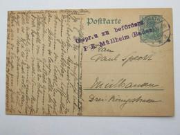 1914 , BRUMATH , Karte Nach Mülhausen Mit Früher Zensur ! - Deutschland