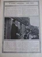 1921  La Premiere Académicienne JUDITH GAUTIER + AVIATION  DIRIGEABLE   Morning Post  Aerodrome Moisson  Capazza - Vieux Papiers