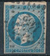 N°14 VARIETE + LOSANGE PETITS CHIFFRES + VALUE. - 1853-1860 Napoléon III