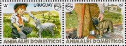Uruguay - 2018 - UPAEP - Domestic Animals - Sheep And Dog - Mint Stamp Set - Uruguay