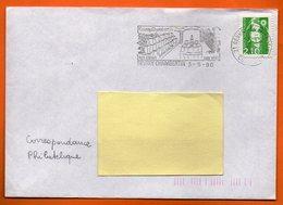 21 GEVREY CHAMBERTIN   SES VINS 1990  Lettre Entière N° MM 743 - Marcophilie (Lettres)