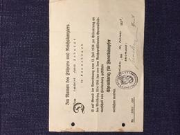 Bayern ( Pfalz ), Ehrenkreuz Für Frontkämpfer 1935. - Diplome Und Schulzeugnisse
