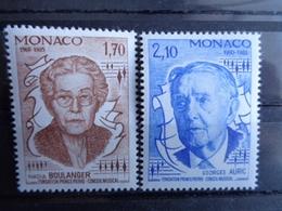 MONACO 1985 Y&T N° 1471 & 1472 ** - NADIA BOULANGER ET GEORGES AURIC - Monaco