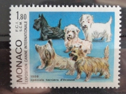 MONACO 1986 Y&T N° 1530 ** - EXPOSITION CANINE INTERN. SPECIALE TERRIER - Neufs