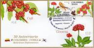 Lote 2715-6F, Colombia, 2012, Cafe, Coffee, SPD-FDC, First Stamp Colombian Coffee Smell, Corea, Korea - Colombia