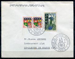 """Frankreich 1961 Bedarfskarte Mit Mi.Nr.1216 U.Tour De France SST""""Paris TOUR DE FRANCE,Arrivee""""1 Beleg - Vélo"""
