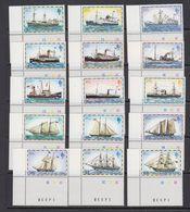 Falkland Islands 1978 Definitives / Ships 15v (all Corners) ** Mnh (41757B) - Falklandeilanden