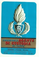 """2332 """" AMARO DELL'AGENTE DI CUSTODIA AL CAFFE'  - SASSANO E PAGANI-MILANO-ITALIA """" ETICHETTA ORIGINALE - Etichette"""