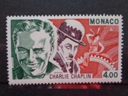 MONACO 1989 Y&T N° 1680 ** - CENTENAIRE DE LA NAISSANCE DE CHARLIE CHAPLIN - Neufs