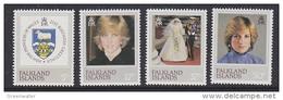 Falkland Islands 1982 21st Birthday Princess Diana 4v ** Mnh (41758) - Falklandeilanden