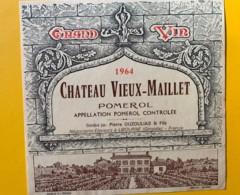 9857 - Château Vieux-Maillet 1964 Pomerol - Bordeaux