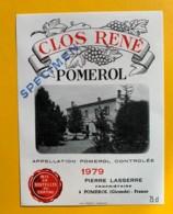 9862 - Clos René 1979 Pomerol  Spécimen - Bordeaux