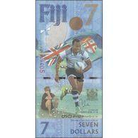 TWN - FIJI ISLANDS NEW - 7 Dollars 2017 - 2016 Fiji Rugby 7s Gold Medal Win - Prefix AU - Signature: Whiteside UNC - Fidji