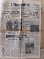 Journal L'Humanité (21 Sept 1966) Feyzin - Procès Ben Barka - La FEN - Surveyor 2 - J Gréco - 1950 - Today