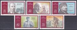 Deutschland Germany DDR 1970 Geschichte History Persönlichkeiten Politiker Lenin Denkmal Memorial, Mi. 1557-1 ** - [6] République Démocratique