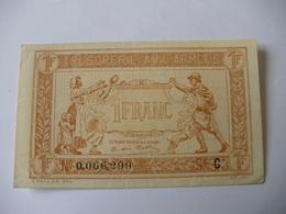 1 F TRESORERIE AUX ARMEES TYPE 1917 SERIE C - Treasury