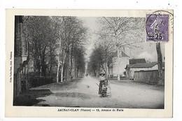JAUNAY-CLAN  (cpa 86)  12 Avenue De Paris - Timntre Semeuse Surchargé    -  L 1 - France