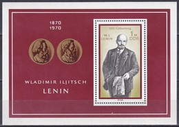 Deutschland Germany DDR 1970 Geschichte History Persönlichkeiten Politiker Lenin Marx Engels, Bl. 31 ** - [6] République Démocratique