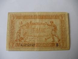 1 F TRESORERIE AUX ARMEES TYPE 1917 SERIE D - Trésor