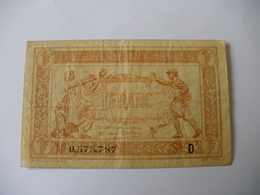1 F TRESORERIE AUX ARMEES TYPE 1917 SERIE D - Treasury