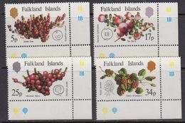 Falkland Islands 1983 Native Fruits 4v (corners) ** Mnh (41761A) - Falklandeilanden