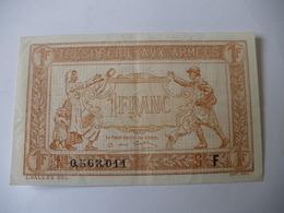 1 F TRESORERIE AUX ARMEES TYPE 1917 SERIE F - Treasury