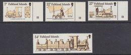 Falkland Islands 1985 70th Anniversary Of Camber Railway 4v ** Mnh (41762) - Falklandeilanden